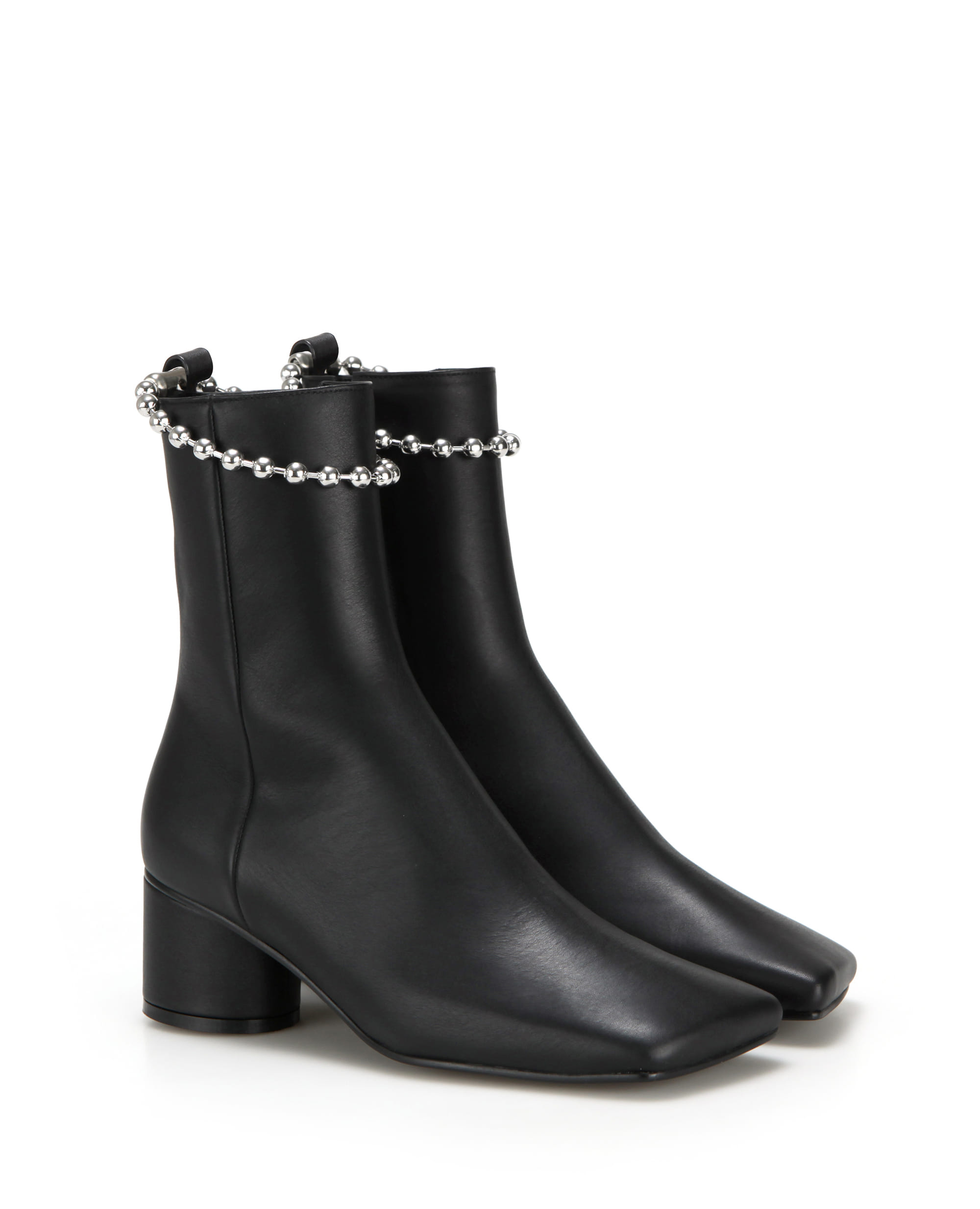 flatapartment, flat apartment, boots, ankle boots, ankleboots, ball chain, shoes, Seoul fashion, k fashion, flat apartment shoes